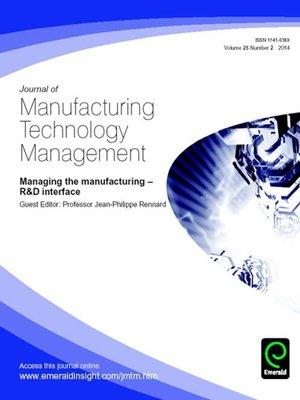 cover image of Journal of Manufacturing Technology Management, Volume 25, Issue 2