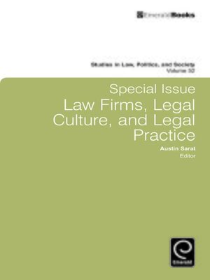 cover image of Studies in Law, Politics, and Society, Volume 52