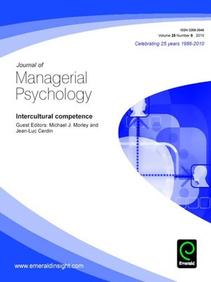 cover image of Journal of Managerial Psychology, Volume 25, Issue 8