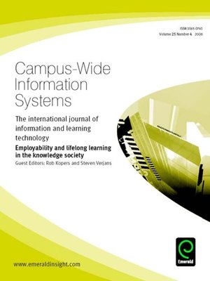 cover image of Campus-Wide Information Systems, Volume 25, Issue 4