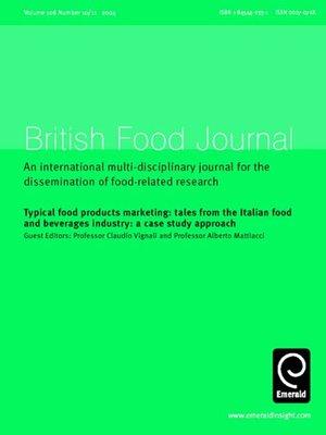 british food journal volume 106 issue 10 11