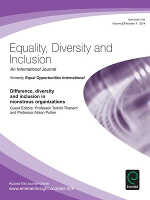 equality diversity and inclusion Equality, diversity and inclusion: an international journal   read 448 articles with impact on researchgate, the professional network for scientists.