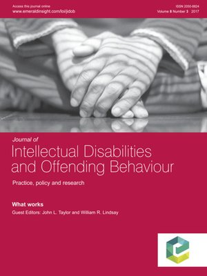 cover image of Journal of Intellectual Disabilities and Offending Behaviour, Volume 8, Number 3
