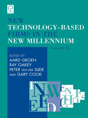 cover image of New Technology-Based Firms in the New Millennium, Volume 9