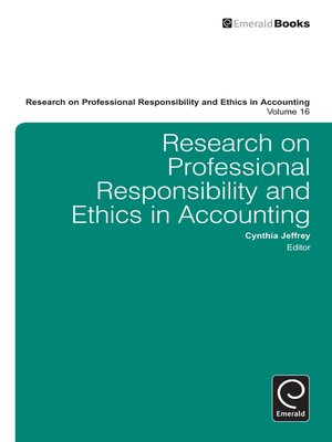cover image of Research on Professional Responsibility and Ethics in Accounting, Volume 16