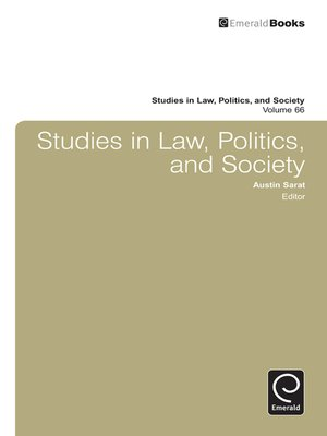 cover image of Studies in Law, Politics, and Society, Volume 66