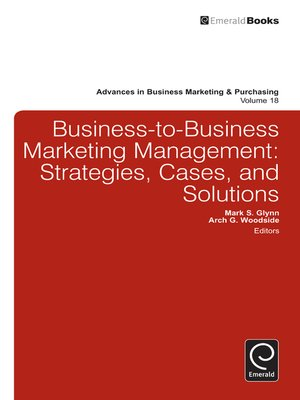cover image of Advances in Business Marketing and Purchasing, Volume 18