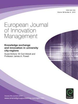 cover image of European Journal of Innovation Management, Volume 18, Number 4