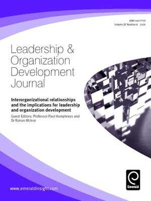 cover image of Leadership & Organizational Development Journal, Volume 27, Issue 6