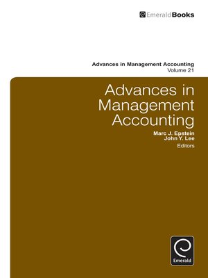 cover image of Advances in Management Accounting, Volume 21