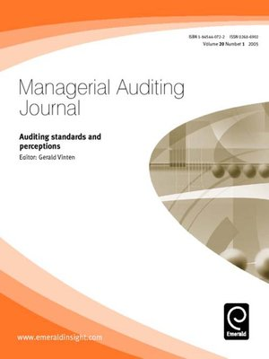 cover image of Managerial Auditing Journal, Volume 20, Issue 1
