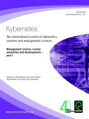 cover image of Kybernetes, Volume 36, Issue 3 & 4