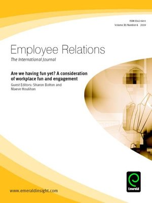 cover image of Employee Relations, Volume 31, Issue 6