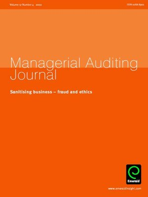 cover image of Managerial Auditing Journal, Volume 17, Issue 4