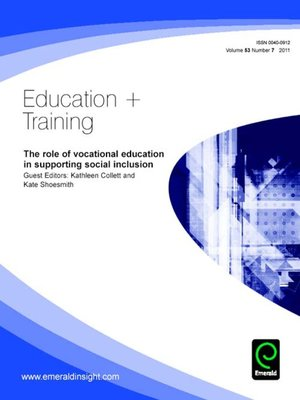cover image of Education + Training, Volume 53, Issue 7