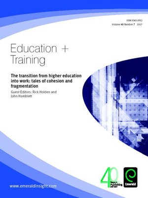 cover image of Education + Training, Volume 49, Issue 7