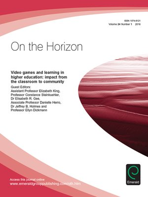 cover image of On the Horizon, Volume 24, Number 1