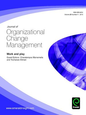 cover image of Journal of Organizational Change Management, Volume 23, Issue 1