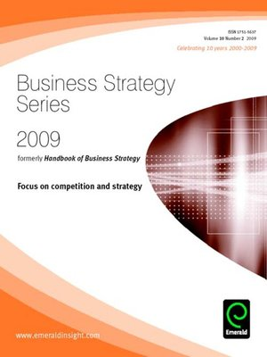 cover image of Business Strategy Series, Volume 10, Issue 2