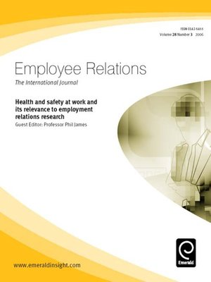 cover image of Employee Relations, Volume 28, Issue 3