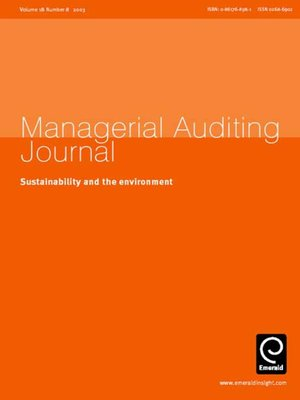 cover image of Managerial Auditing Journal, Volume 18, Issue 8