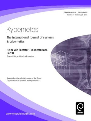 cover image of Kybernetes, Volume 34, Issue 3 & 4