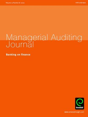 cover image of Managerial Auditing Journal, Volume 17, Issue 8