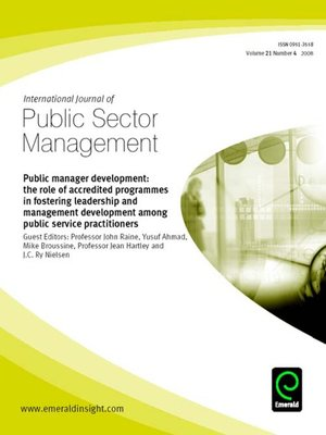 cover image of International Journal of Public Sector Management, Volume 21, Issue 4
