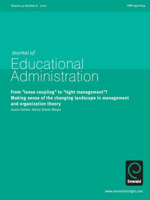cover image of Journal of Educational Administration, Volume 40, Issue 6