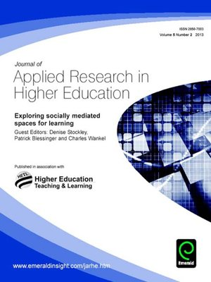 research in higher education journal This quarterly journal offers research findings, theory, and promising practices to help guide the efforts of institutions of higher education in the pursuit of.