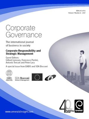 cover image of Corporate Governance, Volume 7, Issue 4
