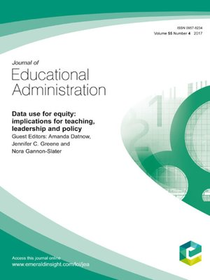 cover image of Journal of Educational Administration, Volume 55, Number 4