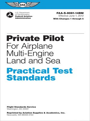 Multi engine flight test guide pdf