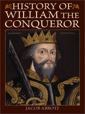 cover image of History of William the Conqueror