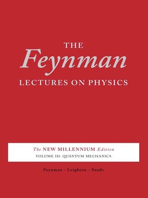 cover image of The Feynman Lectures on Physics, Volume 3 for tablets