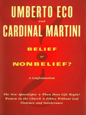 cover image of Belief or Nonbelief