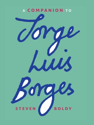 cover image of A Companion to Jorge Luis Borges