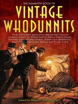 cover image of The Mammoth Book of Vintage Whodunnits