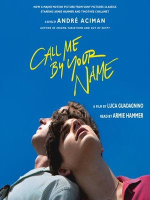 cover image of Call Me by Your Name
