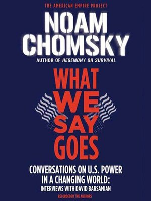 cover image of What We Say Goes