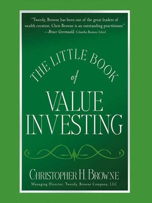 cover image of The Little Book of Value Investing