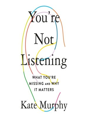 cover image of You're Not Listening