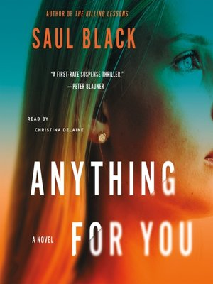 cover image of Anything for You--A Novel