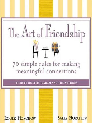cover image of The Art of Friendship