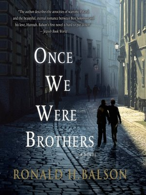 cover image of Once We Were Brothers--A Novel