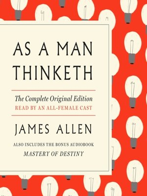 cover image of As a Man Thinketh