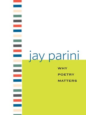 cover image of Why Poetry Matters