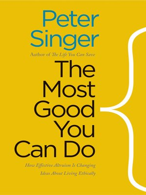 cover image of The Most Good You Can Do