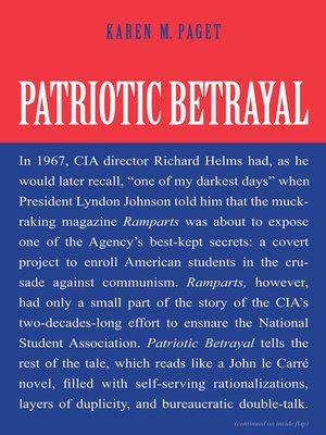 cover image of Patriotic Betrayal