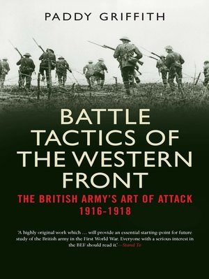 cover image of Battle Tactics of the Western Front
